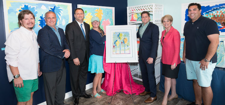 Rich Tracht, Howard Alan, John Couris, Kelly Tracht, Christopher Donolfo, Beth Kigel, and Ruben Cruz at the Poster Unveiling Event on March 1, 2017 at Kelly Tracht's Gallery |  Photo Credit: David R. Randell Photographics